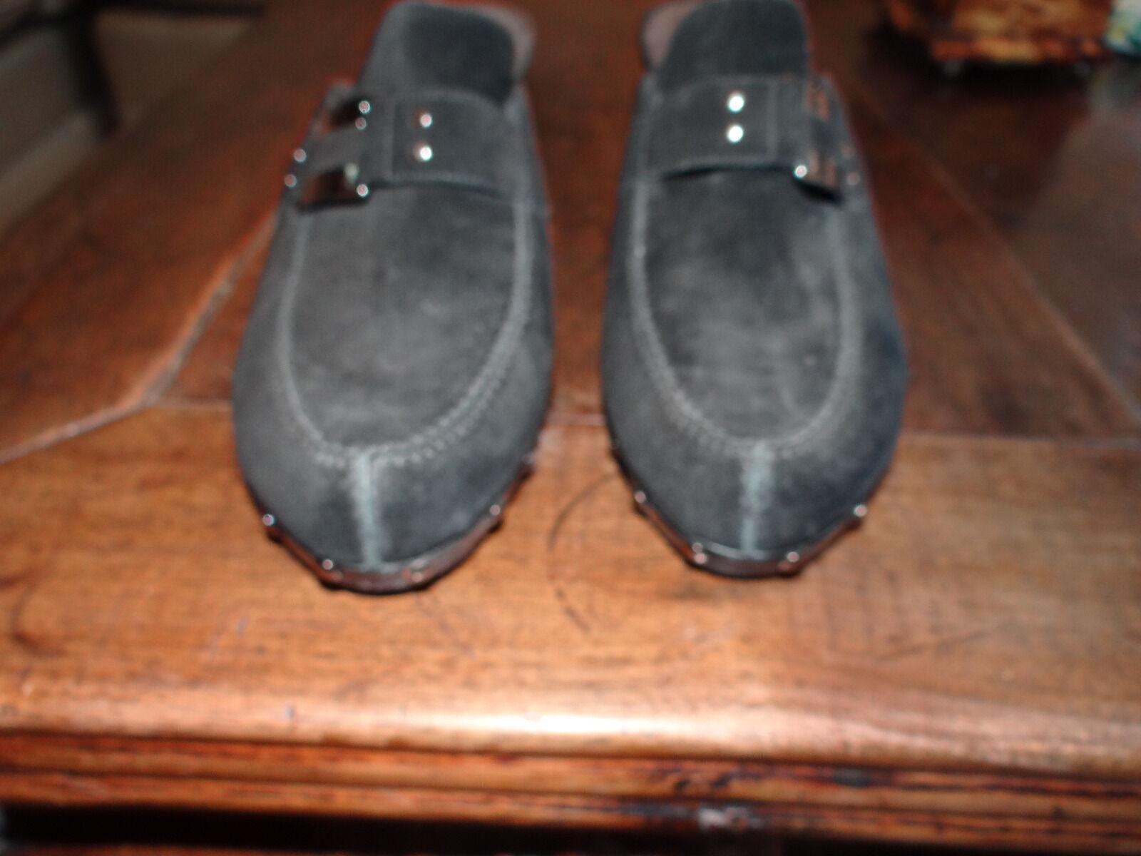 STUART WEITZMAN nero Suede Clogs Mules scarpe Studded Slip On 8.5  Beautiful