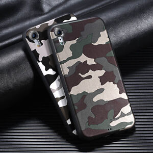 big sale b3f68 ab3c4 Details about Army Camo Camouflage Pattern Rubber Case Cover For iPhone 6 7  8 Plus X XR XS Max