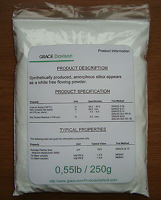 250g of Powdered Silica gel for Beer Clarification (amorphous silica)