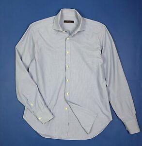Paul-Taylor-shirt-camicia-uomo-usato-righe-L-16-41-strisce-manica-lunga-T5791
