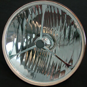 """LUCAS STYLE 7"""" FLAT LENS HALOGEN HEADLIGHT, FITS HARLEYS AND OTHER NON METRIC"""