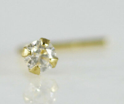 Jewelry Watches Body Piercing Jewelry 18k Solid Gold 2mm Clear