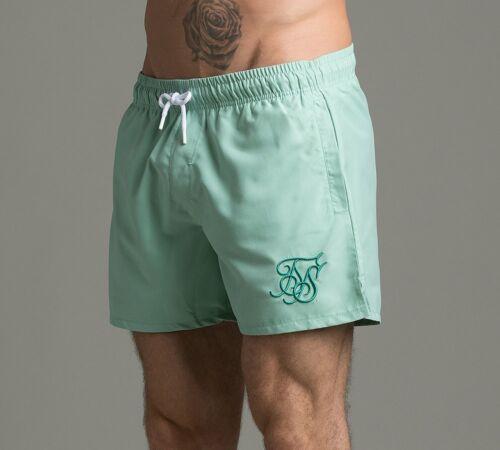 Mens Sik Silk Standard Pastel Teal Swim Shorts RRP £29.99