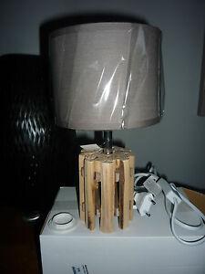 LAMPE-PIED-BOIS-NEUVE-SOUS-BLISTER