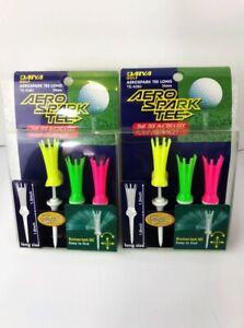 """Aero Spark Brosse Tees 3/1/14 """"long Multi Color Pack De Deux Des Promotions Spéciales-afficher Le Titre D'origine"""