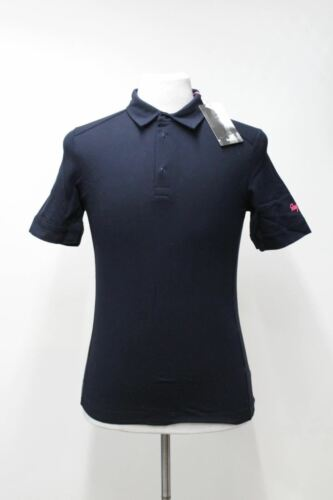 RAPHA Men/'s Navy Blue Cotton Short Sleeve Collared Cycling Polo Shirt S BNWT