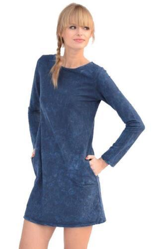8145 top en 3 couleurs Chemise longue shirt légèrement marbrures taille 36 38 s M