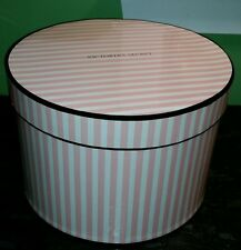 Victoria's Secret large round store prop hat bra panty box pink & white stripes