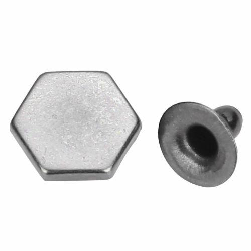 50 Set Double Cap Rivets Metal Fixing Stud Repair Fastener Tool Leather Belt Bag