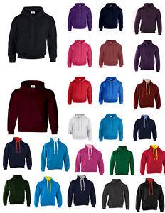 NUOVO-adulto-FELPATO-Blu-Navy-Grigio-Felpe-Unisex-Top-In-Pile-Maglione-Work-Wear-Plain-BNW