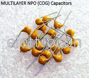 COG 470pf  50V 5/% Condensatori Ceramici Multistrato 10 Pezzi Condensatori NPO