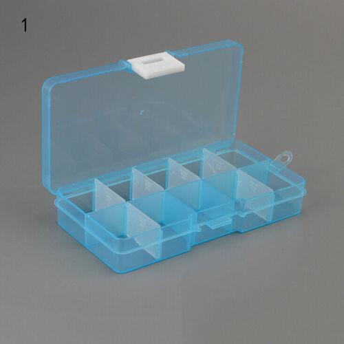 Plastic10 Slots Adjustable Jewelry Storage Box Case Craft Organizer Beads 8A3
