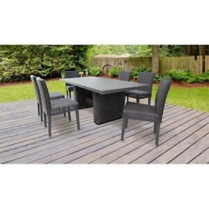 Image Is Loading Venice Rectangular Outdoor Patio Dining Table With 6