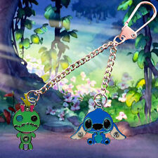 Disney Lilo & Stitch keychain /keyring with Stitch & Scrump charms FREE UK POST
