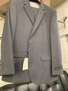 New-48R-Men-039-s-Medium-Grey-Suit-100-Wool-Super-150-Made-in-Italy-Retail-1295