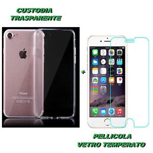 custodia iphone 8 pellicola