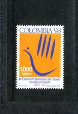 Colombia C903, MNH, 4th Bolivar Philatelic Exhibition 1998. x23599