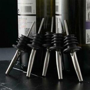 1-Stainless-Steel-Whiskey-Liquor-Oil-Wine-Bottle-Pourer-Stopper-Spout-Cap-Q5Q2