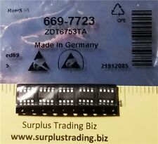 Diodes Inc ZDT6753TA Dual NPN+PNP Bipolar Transistor 2A 100V (Pk of 5)
