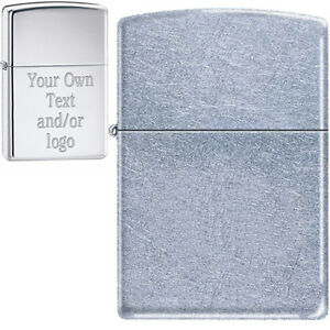 Custom Engraving YOUR TEXT/LOGO - Street Chrome Zippo® Lighter