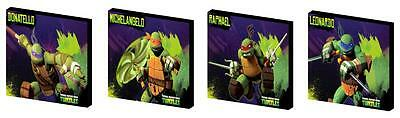 TNMT- NINJA TURTLES INDIVIDUAL - CANVAS ART BLOCKS/ WALL ART PLAQUES/PICTURES