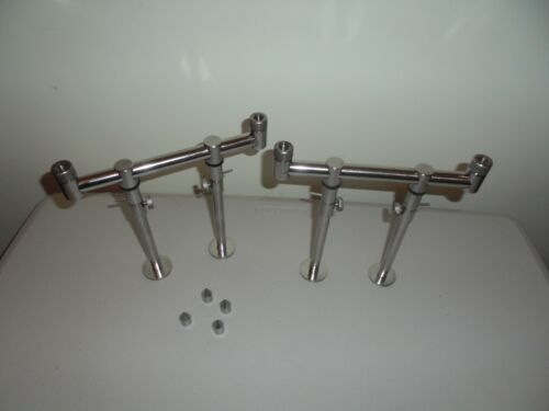 4 x stage stage stand bank sticks TMC 2 x 2 Rod stainless Steel 20cm buzz bars