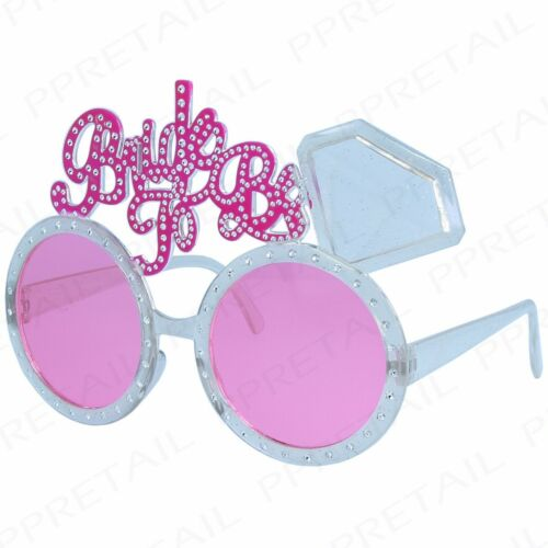 PINK BRIDE TO BE GLASSES Hen Do Party Girls Night Out Wedding Party Celebration