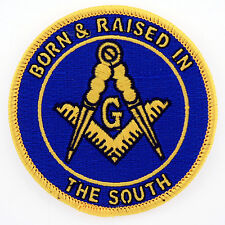 Master Mason Born & Raised in The South Masonic Patch