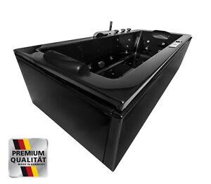 whirlpool badewanne schwarz mit massage d sen heizung ozon. Black Bedroom Furniture Sets. Home Design Ideas