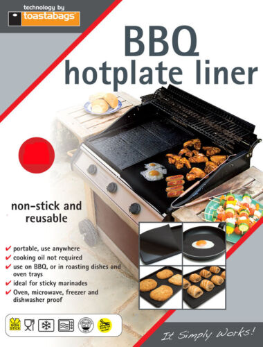 BBQ Hotplate Liner 40x50cm Easy clean Non-Stick No Mess REUSABLE BQHPL4050PT