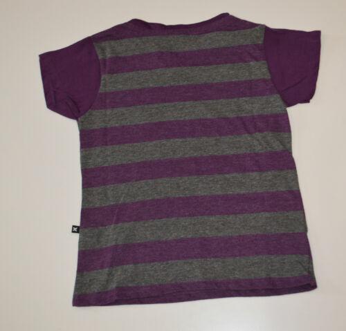 10 PURPLE /& GREY SIZES Hurley Girls Stripe T Shirt NEW 12 /& 16 YEARS 7