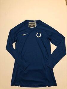 Nike Men s INDIANAPOLIS COLTS Compression Shirt DRI-FIT Size XL L S ... 2daaad549
