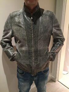 uomo Dolce M afflosciato Cracked Cracked Size da Medium Gabbana motociclista da Bomber qxAO1q