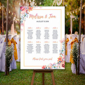 Personalised-Wedding-Seating-Plan-Table-Planner-Floral-amp-Rose-Gold-effect-plans