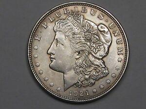 AU-Unc-1921-Silver-US-Morgan-Dollar-19