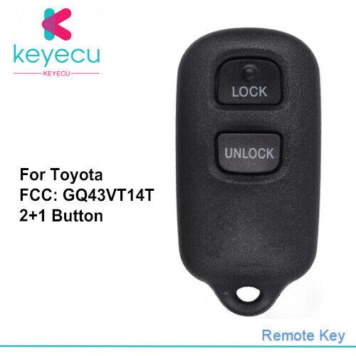 2 for Toyota Camry Corolla Sienna Solara Keyless Remote Car Entry Key Fob 3b