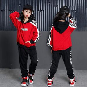 55f5eea97 Girls Boys Loose Ballroom Jazz Hip Hop Dance Competition Costume ...