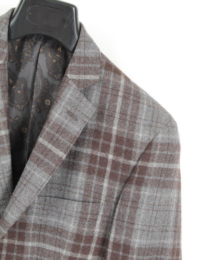 Recent TALLIA Wool Plaid Elbow Patch Blazer Sz. 38 S MINT