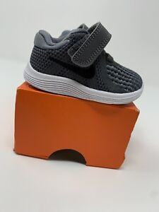 7d249648c2 BABY BOYS: Nike Revolution 4 Shoes, Gray - Size 2C 943304-005 | eBay
