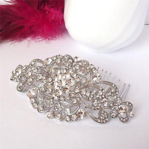 Vintage Wedding Crystal Hair Comb Bridal Tiara Bride Hair Piece Accessories LD