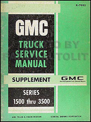 1970 Gmc Riparazione Manuale Pickup Camion Jimmy Suburban Original Oem Fornitura