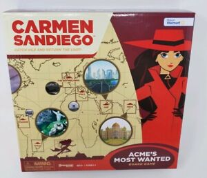 Carmen-Sandiego-Board-Game-Walmart-Exclusive-Acme-039-s-Most-Wanted-NEW-2019