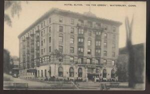 Image Is Loading Postcard Waterbury Ct Elton Hotel 1930 039 S