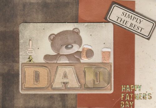 Dad Birthday Card Father/'s Day Handmade Father Men/'s Forever Friends