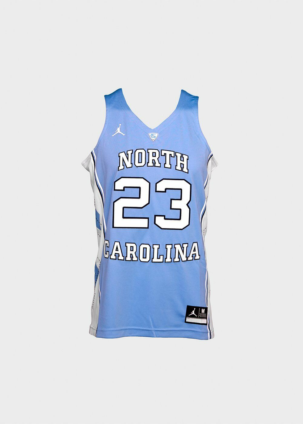 Mens UNC North Carolina Jordan Jersey Dri Fit Sleeveless Valor bluee 00036590X23R