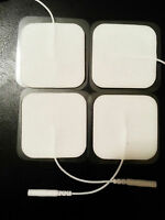 Square Shaped Gel Electrodes (4) Self Adhesive Massage Pads For Tens 2500 System