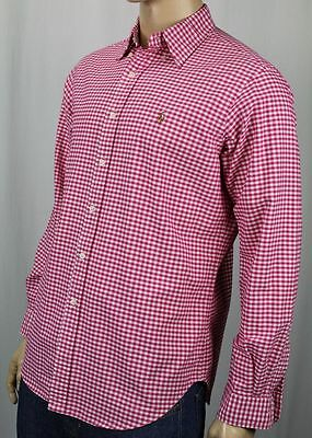Polo Ralph Lauren Red Checkered Button Down Classic Fit Oxford Dress Shirt NWT