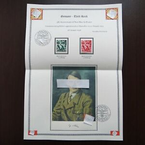 Germany-Nazi-1938-Stamps-MINT-Third-Reich-Youth-Carrying-Torch-WWII-German-Deuts