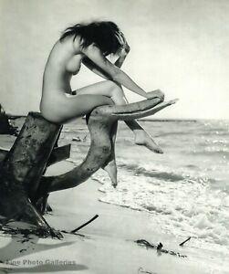 Naked girls on nudist beaches 1960s Vintage Female Nude Girl Beach Seascape By Gerhard Vetter Photo Art 11x14 Ebay