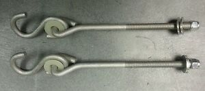 4 New BOLT ON SWING HANGERS w/ S hooks, swingset swivel playhouse hardware